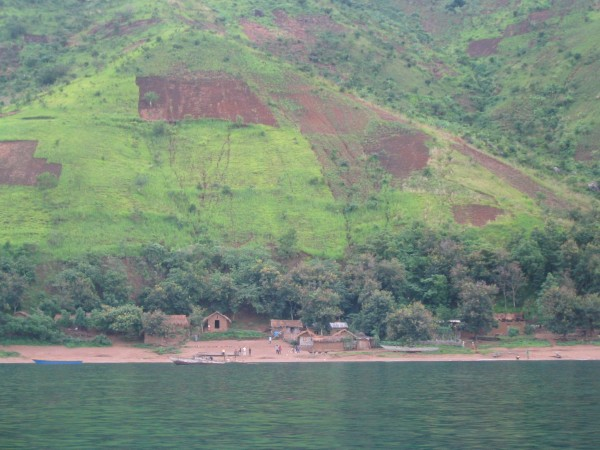 Siltation caused by erosion from deforestation is another main threat to Lake Tanganyika. Photo: Catherine O'Reilly / National Geographic