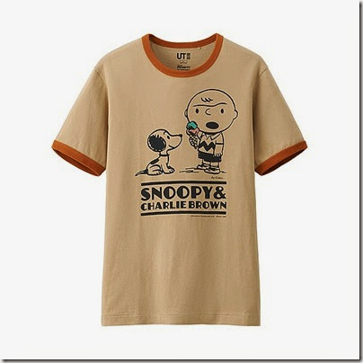 Uniqlo Peanuts Graphic Short Sleeve T Shirt Man Beige