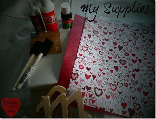 DIY Letter Supplies