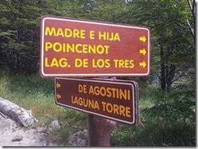 Sinalização no Caminho para a Laguna Torre