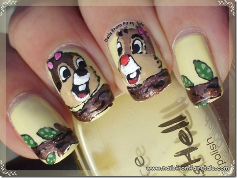 chip and dale nail art 2