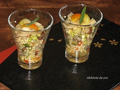 verrines au quinoa germés