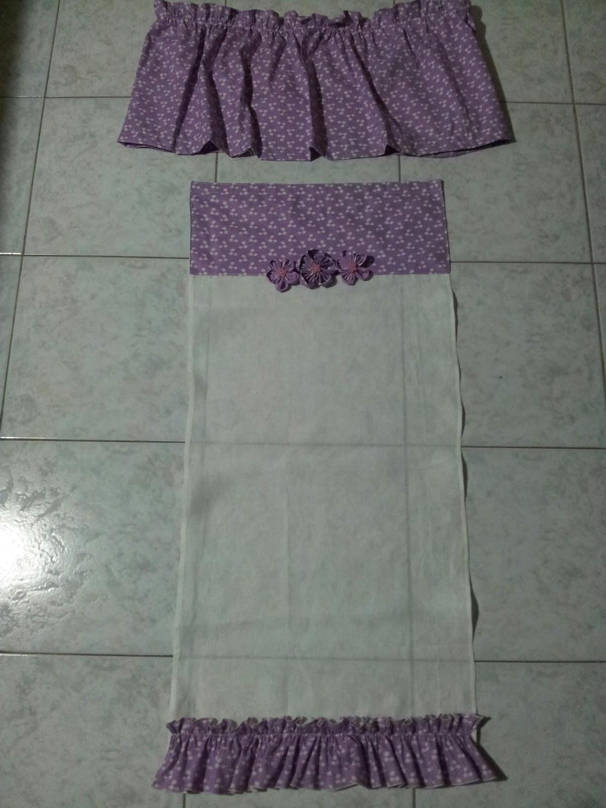 Le creazioni di antonella tendine dietrovetri con copricassettone per bagno - Modelli di tende per bagno ...