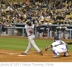 'Big hack by Freddie Freeman.' photo (c) 2011, Neon Tommy - license: http://creativecommons.org/licenses/by-sa/2.0/