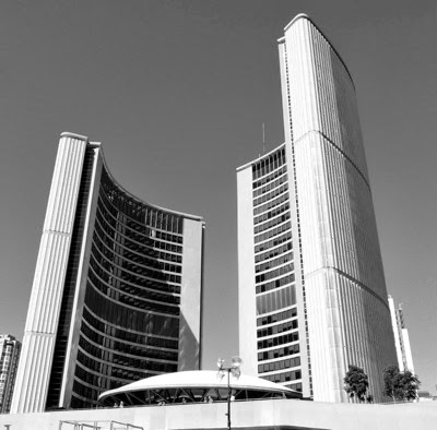 Toronto City Hall B W