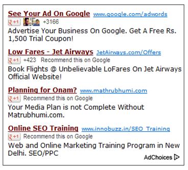 Como desativar o boto Google 1 dos anncios AdSense