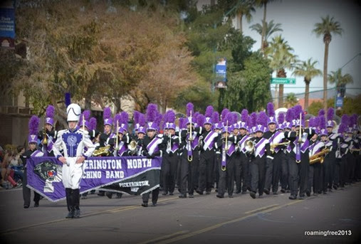 One of several marching bands from Ohio