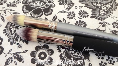 Heavenly Luxe Pointed Precision Complexion Brush vs Sephora Professional Tapered Foundation Brush