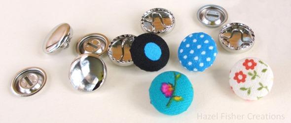 Fabric Cover Button diy tutorial 5
