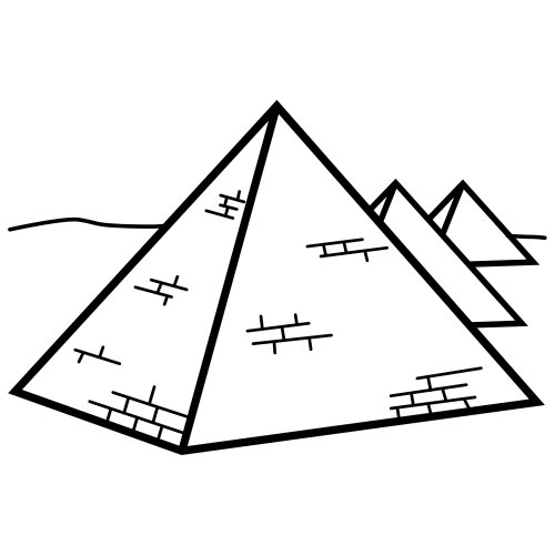 Dibujo de piramide triangular para colorear - Imagui