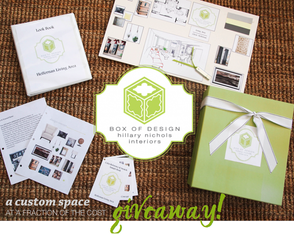 Box of Design interior design services giveaweay!