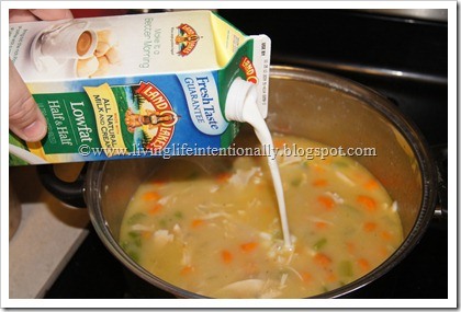 make your Turkey Wild Rice Soup creamy