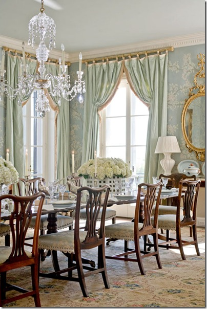 one chandelier in dining room