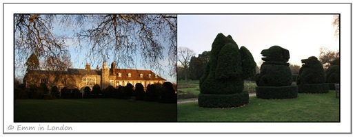Hall Place Western Elevation and Topiary Gardens