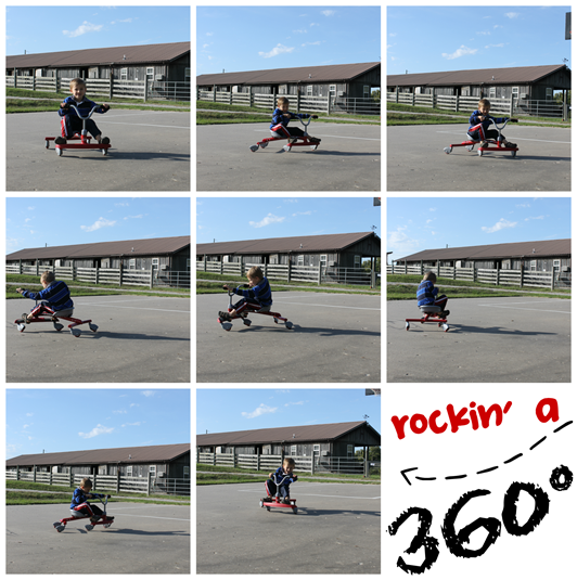 360° with a Radio Flyer ziggle