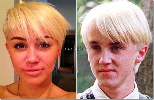 Miley Cyrus e Draco Malfoy