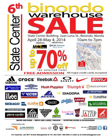 6th Binondo Warehouse Sale Poster