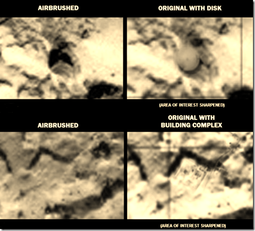 estructuras alienigenas retocadas Rosetta