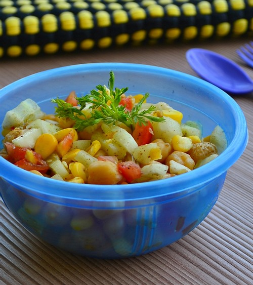 Corn & Chick peas salad