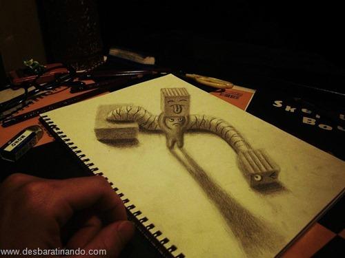 desenhos lapis 3D desbaratinando  (15)