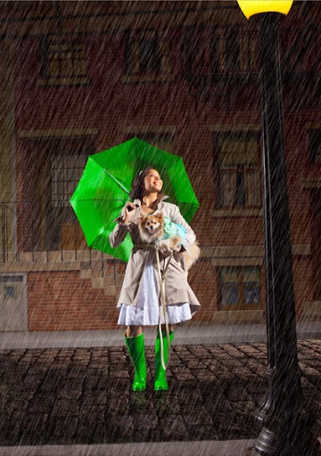 I'm singing in the rain!
