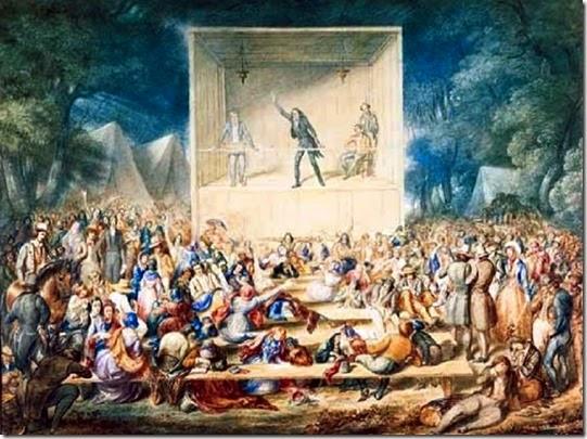 2nd Great Awakening - 1839 Methodist camp meeting