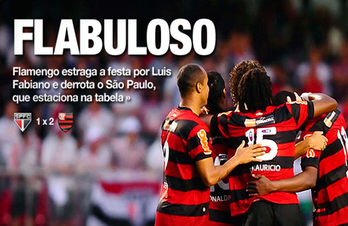 Flamengo derrota o São Paulo na estréia de Luis Fabiano - Brasileirão 2011