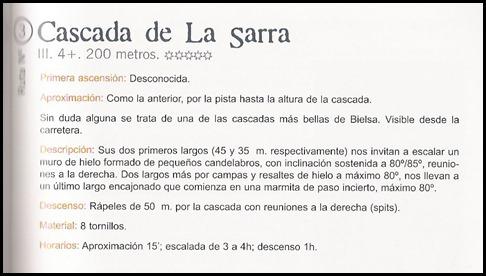 Valle de Pineta - La Sarra 250m III WI4  (info)
