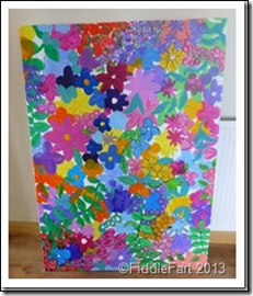 Large flowery paint picture.2