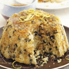 Spotted Dick With Lemon Syrup