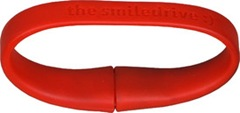 Smiledrive Wristband 8GB Pen Drive (Red)