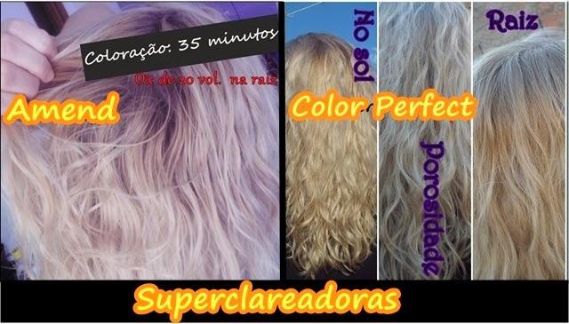Toda Tintura loira que usei no cabelo