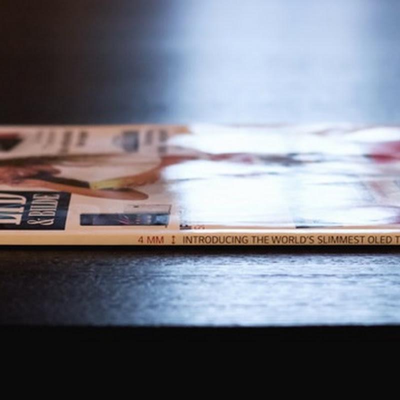 Tan delgada como una revista