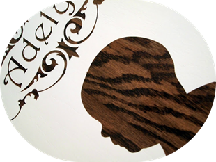 Wood Grain Profile Plaques