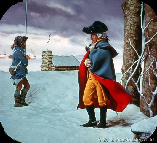 View-Master The Revolutionary War (B810), Scene C1: Winter at Valley Forge, 1777