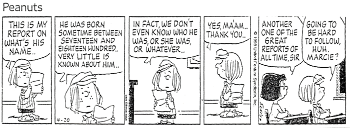 Peppermint Patty's research report