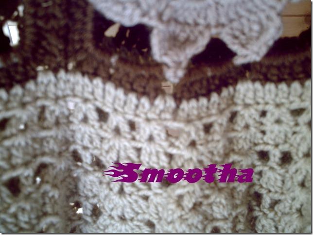 Vestido de crochet castanho e beje (5)