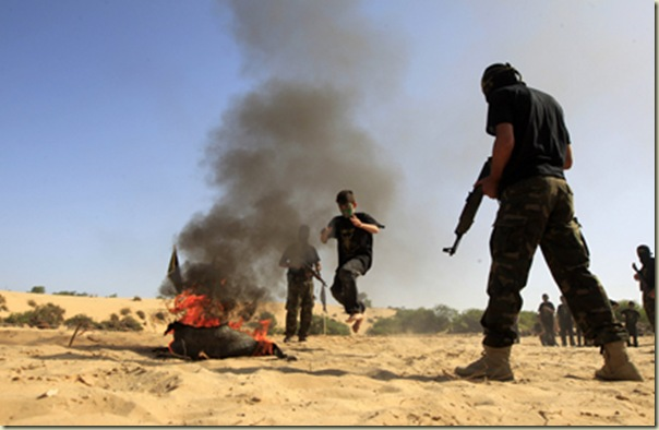 PALESTINIAN-ISRAEL-CONFLICT-GAZA-MILITARY-SUMMER CAMP