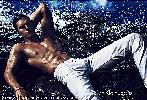 Calvin Klein Jeans Men Spring Summer 2012  capsule collection  skinny, shrunken, slouchy denim Indigo, Pastel Colored Jeans