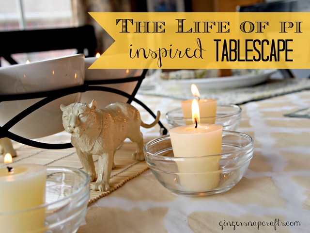 The Life of Pi Inspired tablescape 
