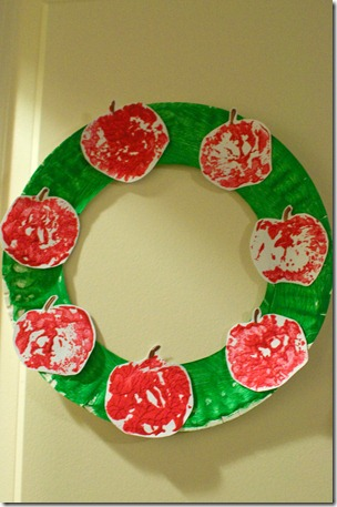 Stamped Apple Wreath