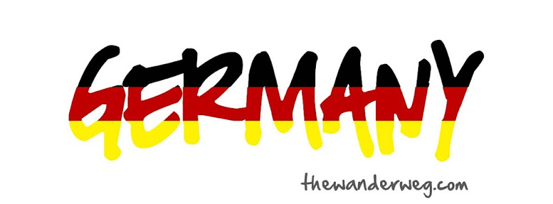 Germany word graphic design black red gold the wander weg blog