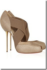 Christian Louboutin big dorcet 120 textured-leather pumps £635
