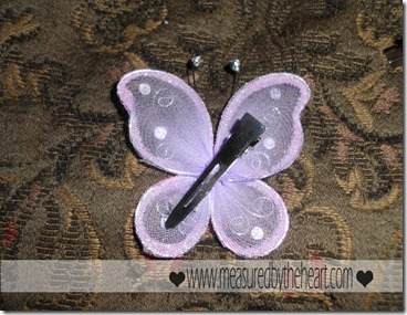 super cute butterfly hair clips
