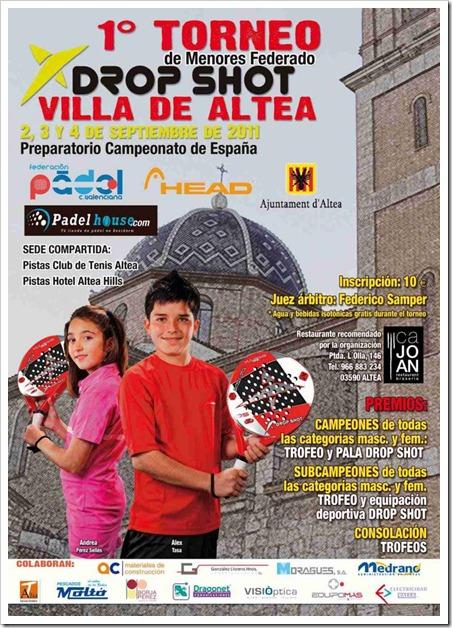 Torneo Drop Shot Menores Federación Pádel Comunidad Valenciana, septiembre 2011.