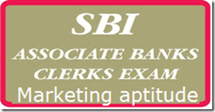 SBI associate  CLERKS marketing aptitude previous  questions
