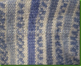 2011 Soft Blue socks detail