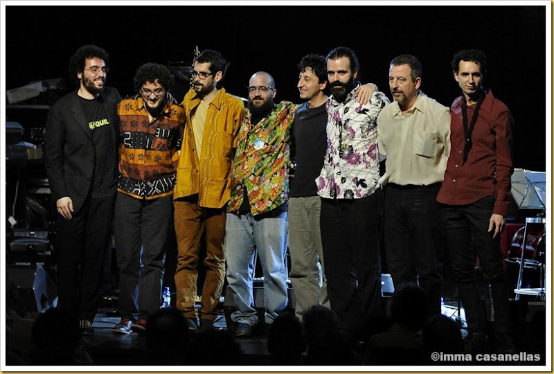 D'esquerra a dreta: Sergi Sirvent, Voro García, Jaume Llombart, Hugo Astudillo, Jordi Gardeñas, Albert Cirera, Jordi Gaspar i Pau Domènech (Barcelona, 2012)
