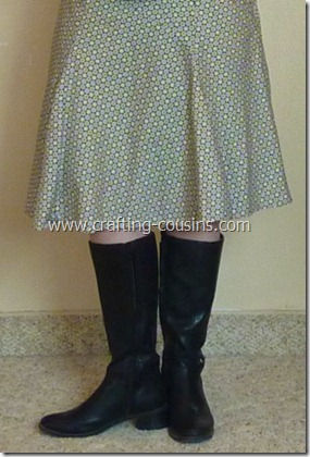 polka dot skirt with boots