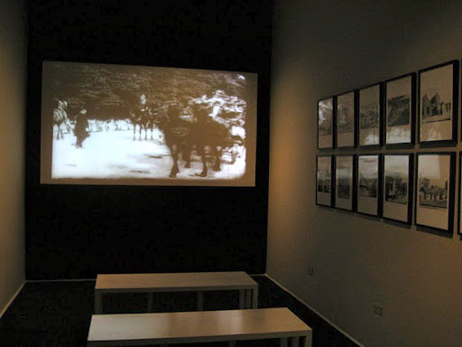 At the end of the exhibition there is an interesting video installation.